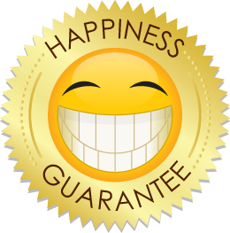 Click for more Happiness Guarantee info.